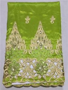Image 4 - Lj16kоптовая продажа, Высококачественная африканская ткань George, желтая африканская кружевная ткань George для нигерийской свадьбы