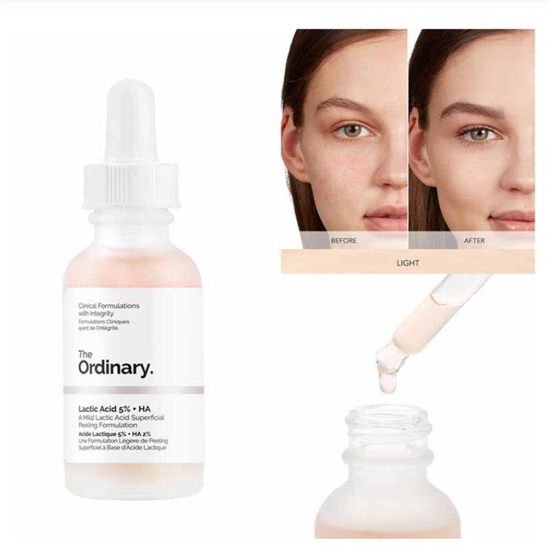 The Ordinary 30ml Face Skin Exfoliation Lactic Acid 5% + HA 2% Superficial Peeling Formulation Remove Scars Spots
