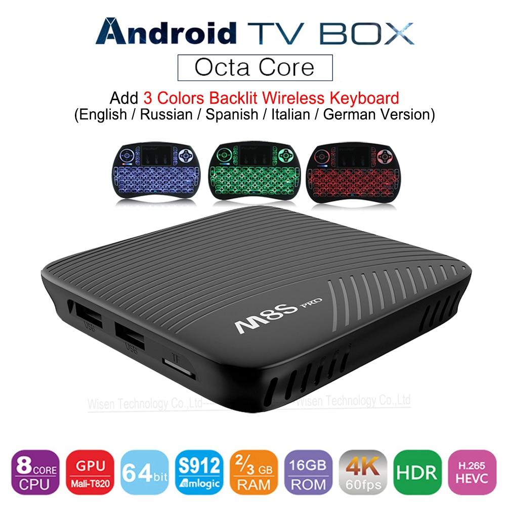 MECOOL M8S PRO Android 7.1 Smart TV Box 3 GB DDR4 16 GB Amlogic S912 64 bit Octa Core UHD 4 K BT4.1 2.4G/5G WiFi KDI Set-top Box