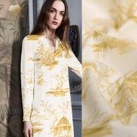 30mm twill silk cotton fabric exquisite fashion dress silk fabric Japanese kimono fabric material wholesale cotton cloth