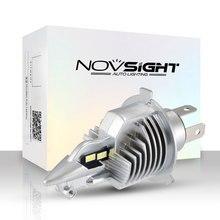 Novsight мотоциклетный головной светильник H4 Led 6000лм мотоциклетный светильник 35 Вт Супер Белый 6500 к мопед скутер открытый светильник ing Hi-Lo светильник s