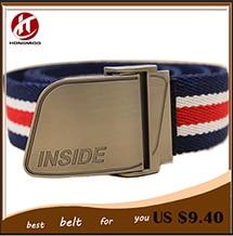 Hot sell 2014 Men Brand Striped Canvas Belts High Quality Male Strap Military Belt Men's tTicken Canvas Belt Automatic
