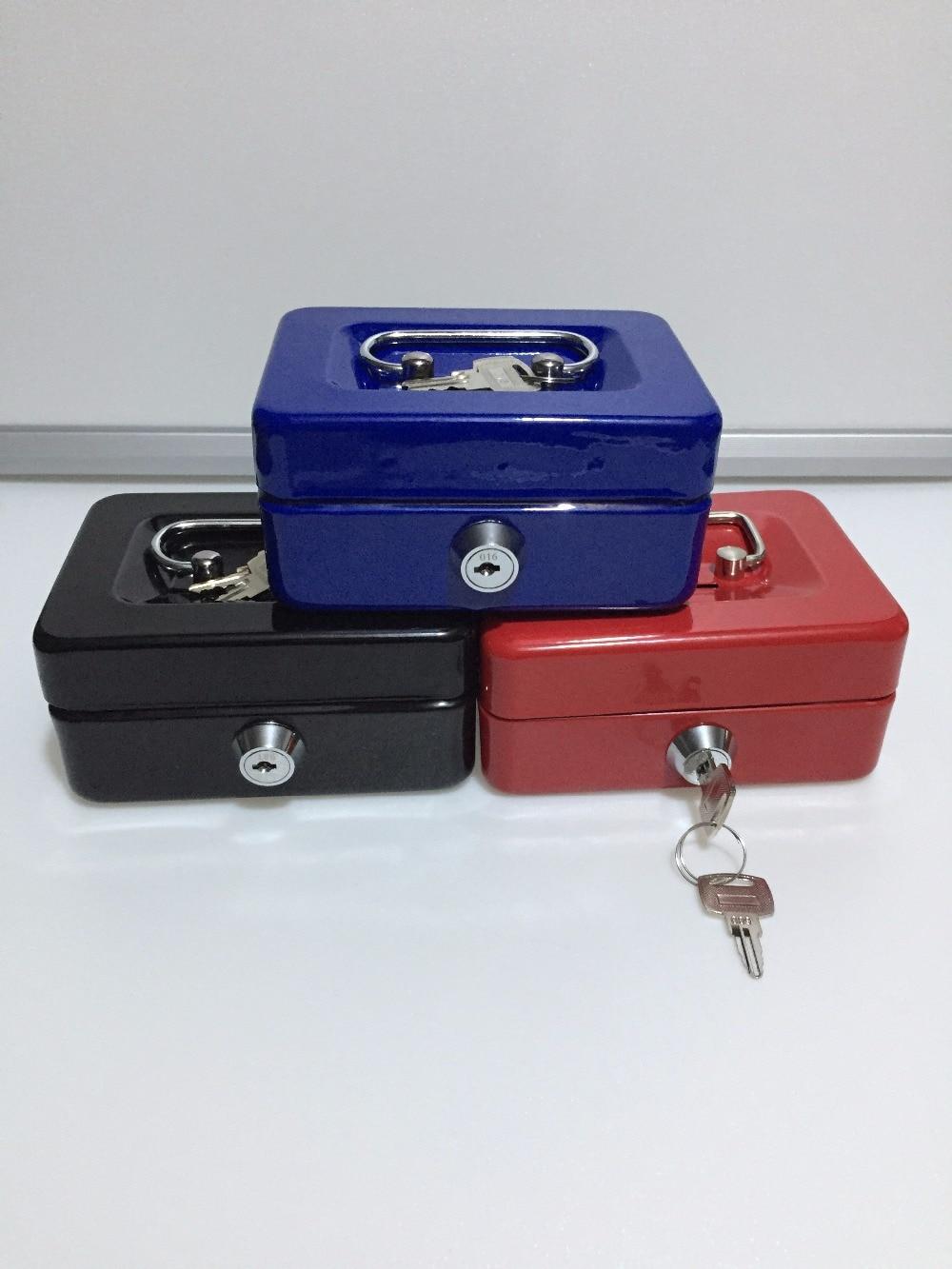 12.5cm*9.5cm*6cm Mini Small Steel Safe Key Open Box Store Content Boxes Paper Piggy Bank Card Document Safes
