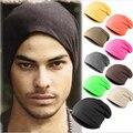 Новые тенденции осень и зима Унисекс шляпы мужчины носок женская мода Тюрбан Hat Skullies Шапочки для девочек трикотажные шапки падение доставка