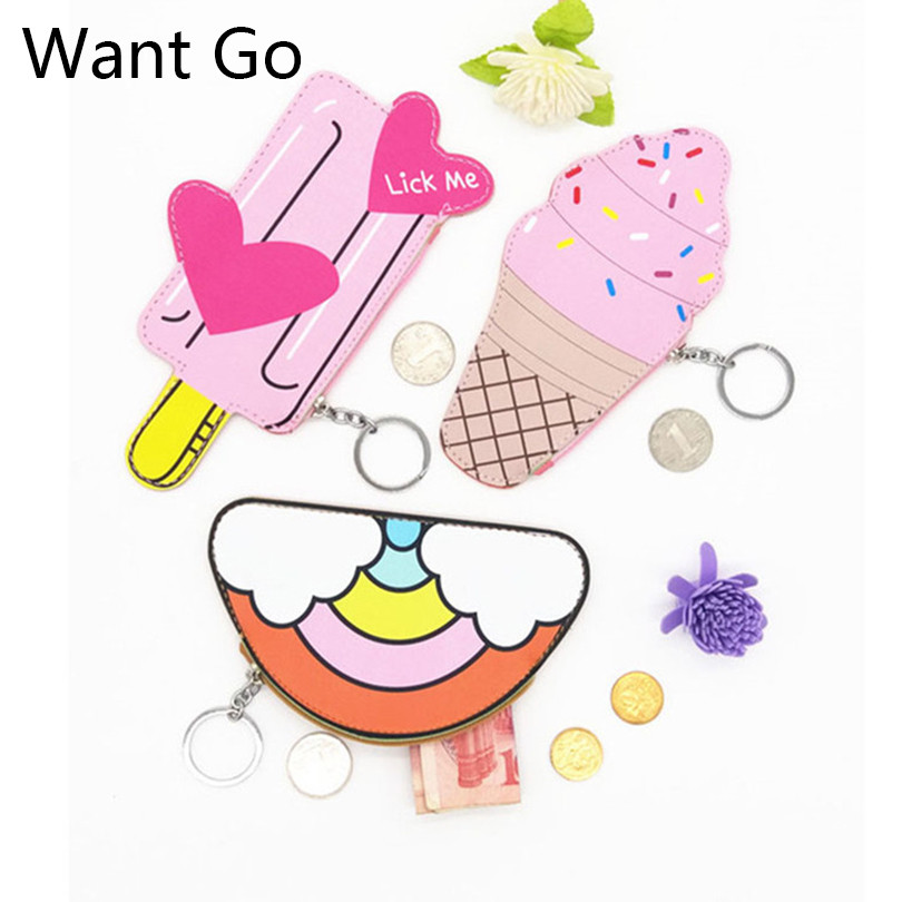 Want Go Preppy Style Children Coin Purses Pu Leather Coin Bag Multicolor Mini Purses Small Wallets Money Bag For Student & Kids