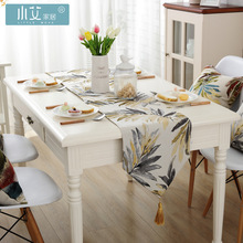 American country Style Jacquard Tablecloth Color Leaves decor table runner  Decorative bed flag