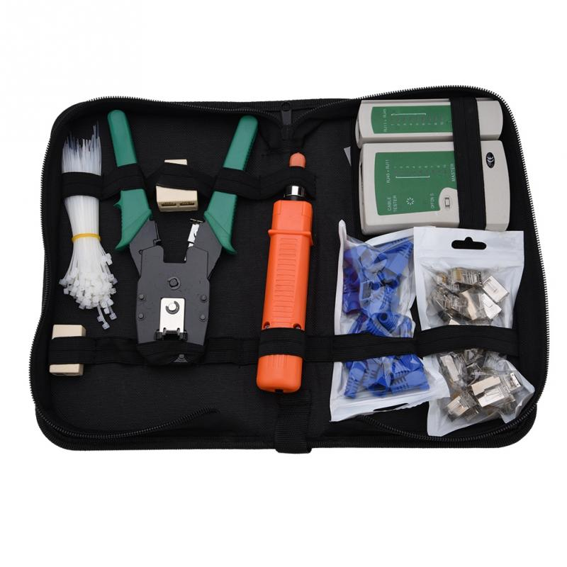 Network Repair Tool Kit Network Tester Kit 10 Piece Combination Kit for RJ45