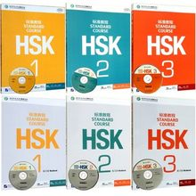 цена 6PCS Chinese English Bilingual exercise book HSK students workbook and Textbook  :Standard Course HSK 1-3 онлайн в 2017 году
