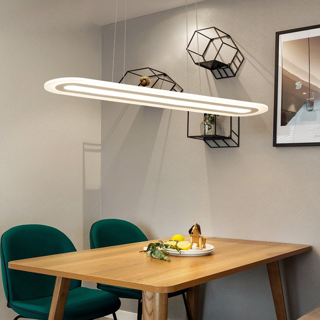 Modern Led Simple Pendant Lights For Kitchen Living Room Dining Re Hanging Lamp White Ceiling Fixtures