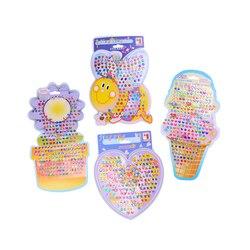 4 adet/takım Güzel Çocuk Kız Kristal Sopa Küpe Sticker Oyuncak Vücut Çanta Parti Takı