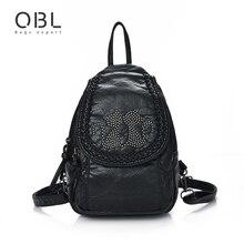 Qibolu мини маленький рюкзак Для женщин сумка черный Путешествия Школьные Сумки Подростков Обувь для девочек женские Mochilas Mujer feminina SAC DOS Femme W672