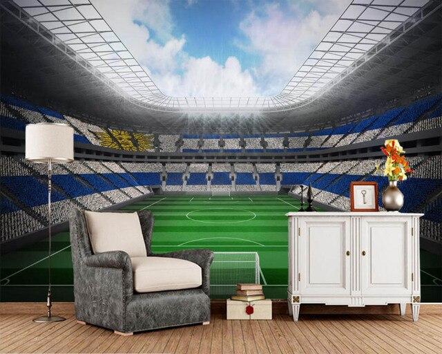 Us 28 0 Papel De Parede Fussball Stadion Rasen Sport Foto Tapete Wohnzimmer Schlafzimmer Sofa Tv Wand Cafe Bar Papiere Wohnkultur Wandmalereien In