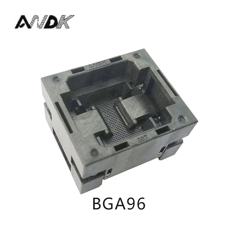 BGA96 OPEN TOP burn in socket pitch 1.0mm IC size 11*11mm BGA96(11*11)-1.0-TP01NT BGA96 VFBGA96 burn in programmer socket bga80 open top burn in socket pitch 0 8mm ic size 7 9mm bga80 7 9 0 8 tp01nt bga80 vfbga80 burn in programmer socket
