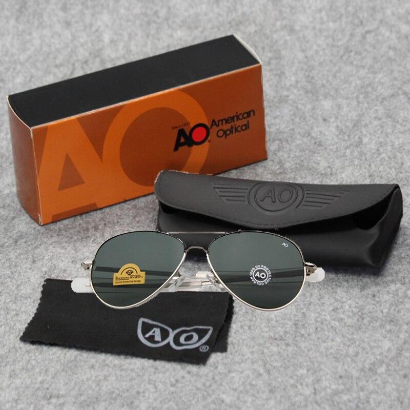 9aef71488c FU E mode HD lunettes de soleil hommes marque Designer AO pilote lunettes  de soleil pour