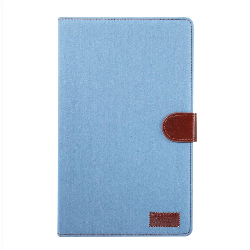 Leather Cover Case For Samsung Tab A 10.1 2019 T510 & T515 Denim Flat Case Smart Split Holster Funda Protectora PlanaG20