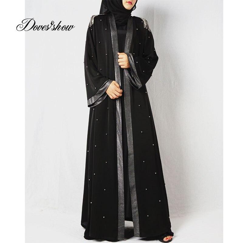 Fashion Muslim Dress Abaya in Dubai Islamic Clothing For Women Jilbab Djellaba Robe Musulmane Turkish Baju Robe Kimono Kaftan 11 contrast panel kimono sleeve kaftan dress