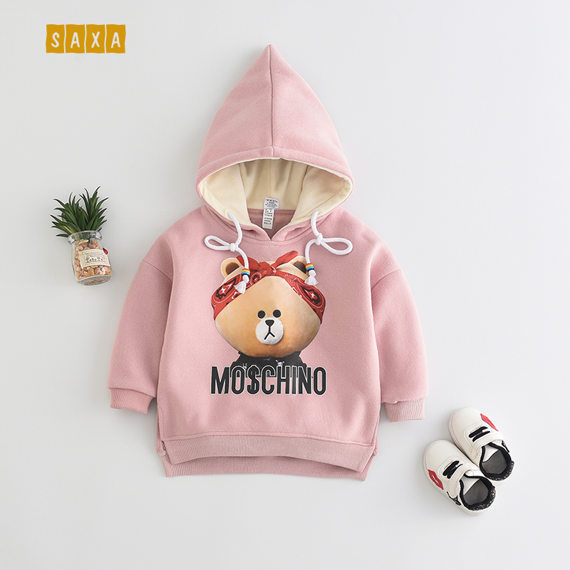 Baby Girl Sweater Spring And Autumn Children Cotton Clothes Baby Cartoon Print Sweatshirts Girl Warm Long-sleeved Sweatshirts