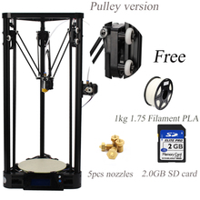 Impresora de Metal 3d Kossel Polea Delta Kit Con 1 KG de Gran Tamaño de Impresión de La Impresora 3d Filamento + 5 unids boquillas + 2 GB tarjeta SD de forma gratuita