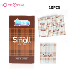 10PCS Natural Latex Condoms Small Size Condoms Ultra Thin Small Size Adult Safe Contraception Sex Products for Men Male Couples(China)