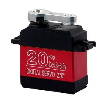 DS3218MG 20KG High voltage 5V-6.8V Large Torque Digital  Servo metal shell Waterproof servo For 1/10 1/8 rc car Truck boat