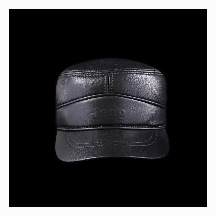 Utumn und Winter hohe Qualität Rindsleder Kappe Baseball Kappe - Bekleidungszubehör - Foto 2