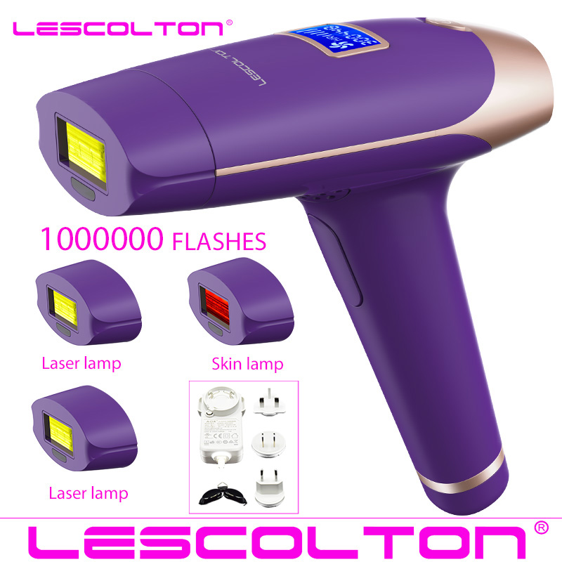 Image 4 - Lescolton 4in1 IPL Epilator Permanent Laser Hair Removal LCD Display 1000000 Pulses depilador a laser Bikini Photoepilator-in Epilators from Home Appliances