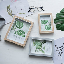 DIY Photo Frame Desktop Decoration Home Decoration Frame Wall Hanging Wooden Wedding Photo Frame Living Room 6/7/8 Inch 10pcs set wooden mini round photo frame hanging crafts diy handmade with ropes home decoration ornament
