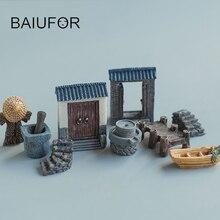 32 styles Mini Resin Crafts Decoration Pastoral Models Terrariums Figurine Miniature Fairy Figurines Micro Landscape Accessories