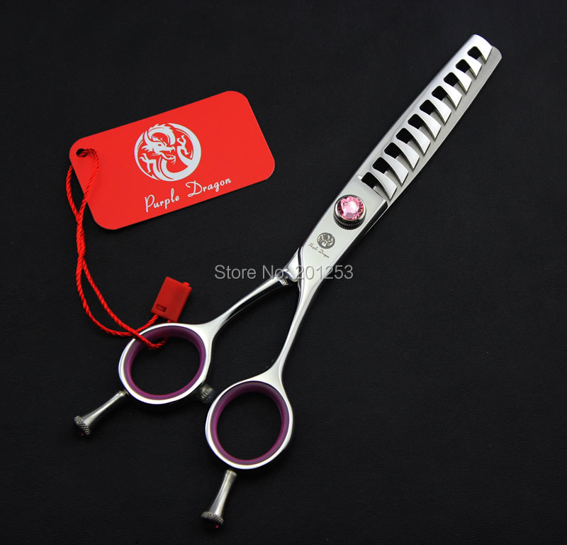 6.0Inch 10Teeth Thinning Scissors,Purple Dragon Human Hair Thinning Shears for Hairdressers,50% Cutting Rate JP440C,1Pcs LZS0316