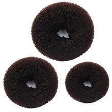 Donut bun размеры чайник shaper губка кольцо волос женщин шт.