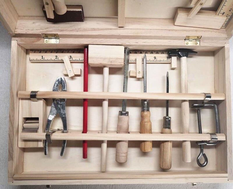 carpinteiro de madeira do menino fingir brinquedo 03