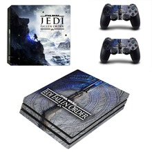 Star Wars Jedi Fallen Order  PS4 Pro Skin Sticker For PlayStation 4 Pro Console and Controller PS4 Pro Stickers Decal Vinyl