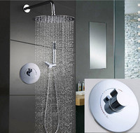 Free shiping 12 inch rain Stainless Steel head shower in wall shower faucets shower set two function valve IS399