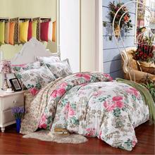 King Twin Full Queen 4pcs Beding Sets Flower Printed Bedding Sets Bed Clothes Bedding Set Many Colors