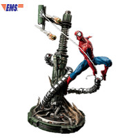 Presale Avengers:Infinity War Superhero Spider Man Craftde From Cold Cast Porcelain Statue Model (Delivery Period: 60 Days) X778