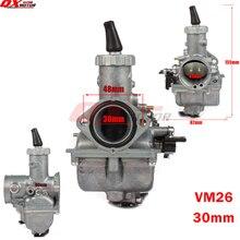 VM26 Carb PZ30 30mm carburetor For Chinese CG CB 200cc 250cc Dirt Bike Motorcross ATV Quad motorcycle parts goofit pz30 30mm carb carburetor cg200cc 200cc atv quad pit bike rebuild repair kit a012 025