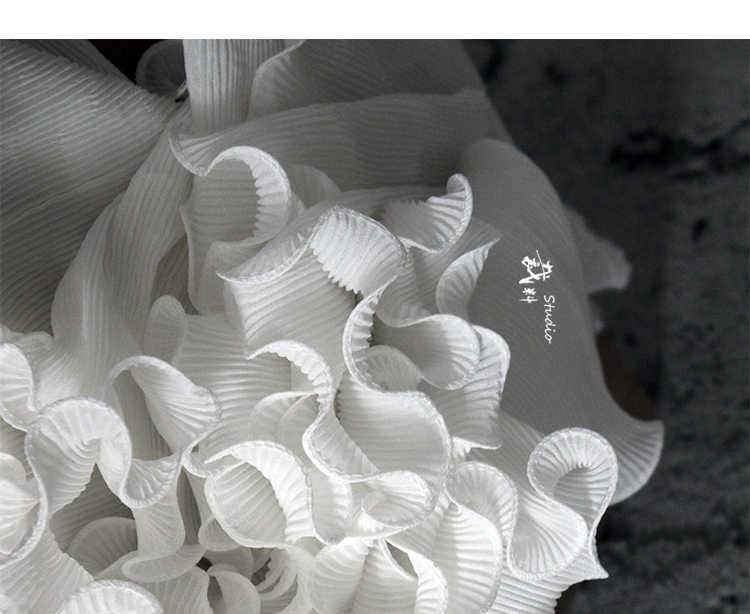 단일 레이어 pleated 웨이브 패치 워크에 대 한 3d 프릴 디자이너 패브릭 bazin riche getzner tissus telas por metros