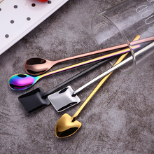 304 Stainless Steel Coffee Spoon Creative Plating Ice Spoons Long Handle Tea Kitchen Tools Hot Drinking Flatware Colorful