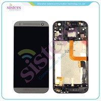Best White Gold Grey LCD Display Touch Screen Digitizer Assembly With Frame Replacement Parts For HTC