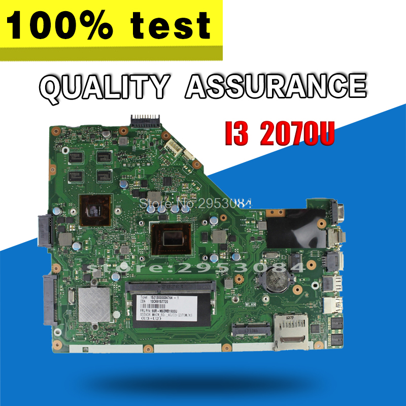 original X55VDR laptop motherboard For Asus X55VD REV3.2 With I3 2370 Processor HM76 N13M-GE6-S-A1 GT 610M tested Ok gf108 876 a1 n13p gt a1 n13m ge b a2