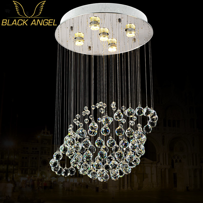Planet K9 Crystal Indoor Chandelier Fashionable Design Pendentes De Cristal Para Sala Jantar Water Drop In Chandeliers From Lights