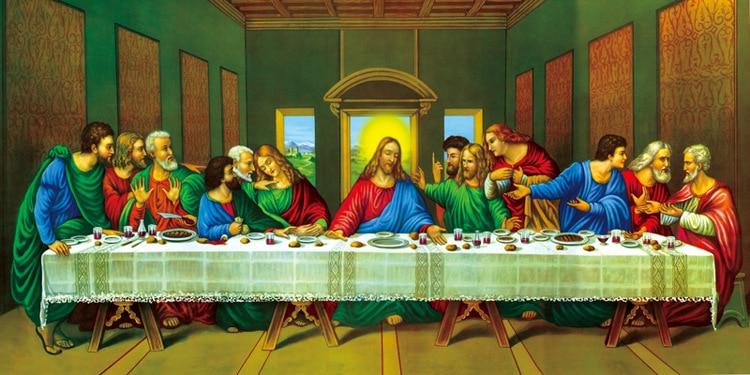 HD Impreso Canvas Art Poster Picture Painting La última cena de - Decoración del hogar