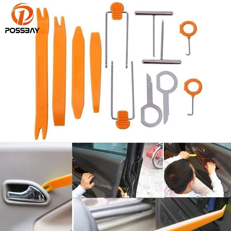 POSSBAY Car Auto Removal tool Orange Vehicle Dash Trim Tool Car Door Panel Audio Dismantle Remove Install Pry Kit Refit Set