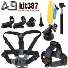 A9 for SJCAM SJ4000 SJ9000 accessories with body tripod monopod head strap mount for Gopro hero 5 4 3 and Xiaomi yi 4k