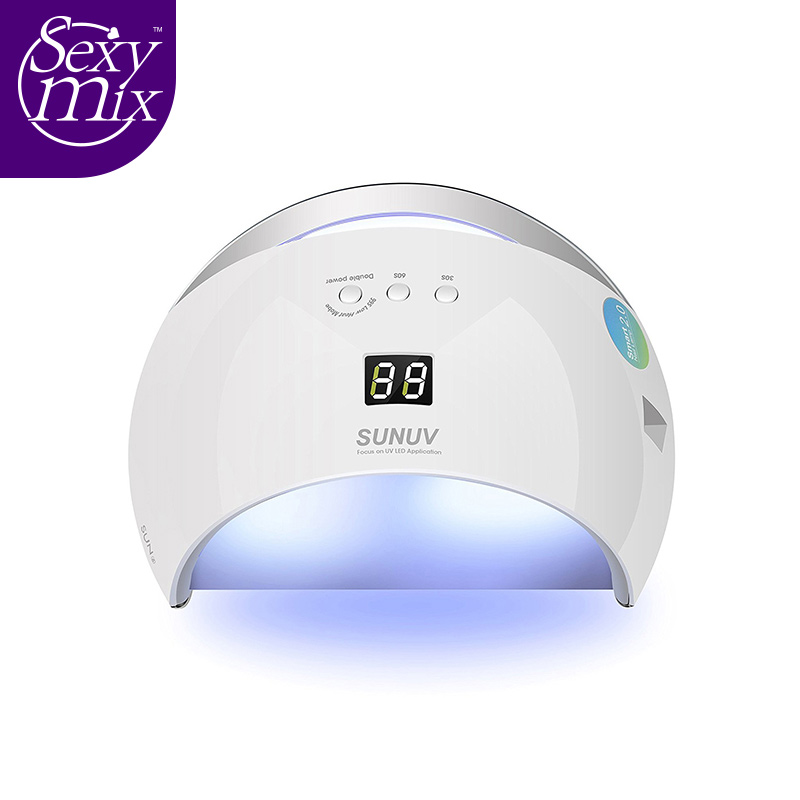 SEXY MIX 48W UV Lamp Nail Smart Dryer sun6 UV Led Lamps Nail LED Dryer Polish Machine for Curing UV Gel Polish Double Power Fast table top uv machine uv machine uv curing machine for sale lamp power 2kwx 2 pieces