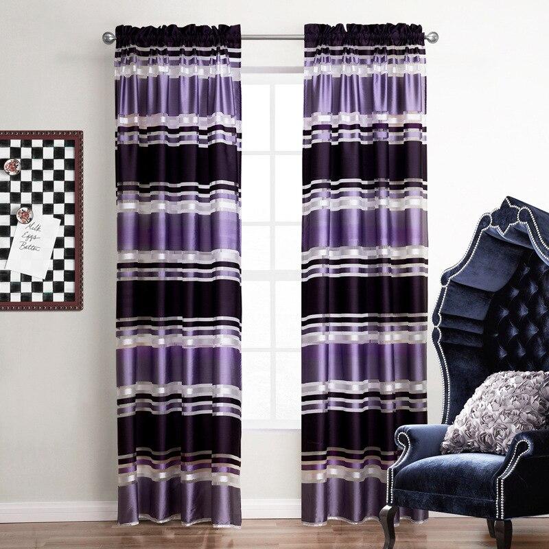 Aliexpress.com : Buy 1 Piece Purple Striped Luxury Curtain