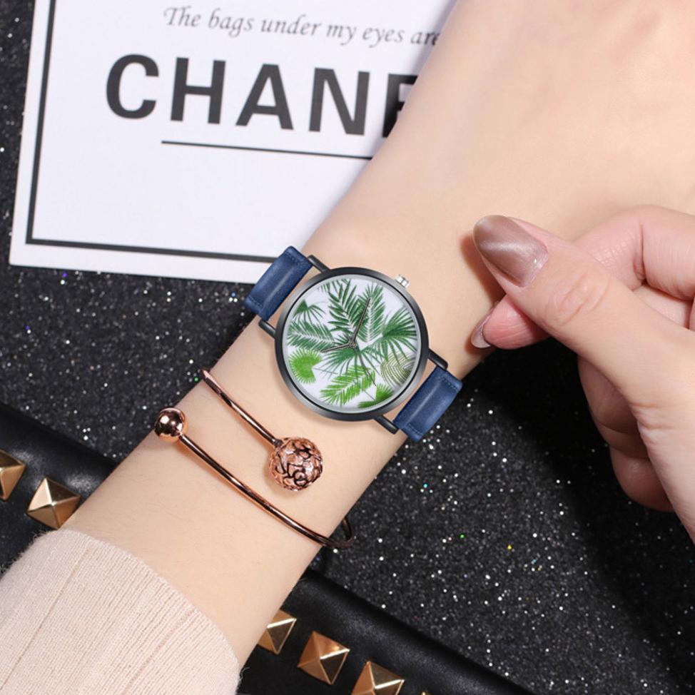 398e8cb11367 Comprar Moda Mujer relojes Venta caliente de cuero pulsera analógico de  cuarzo Reloj Relogio femenino mujeres relojes Reloj de Mujer Bayan Online  Baratos.