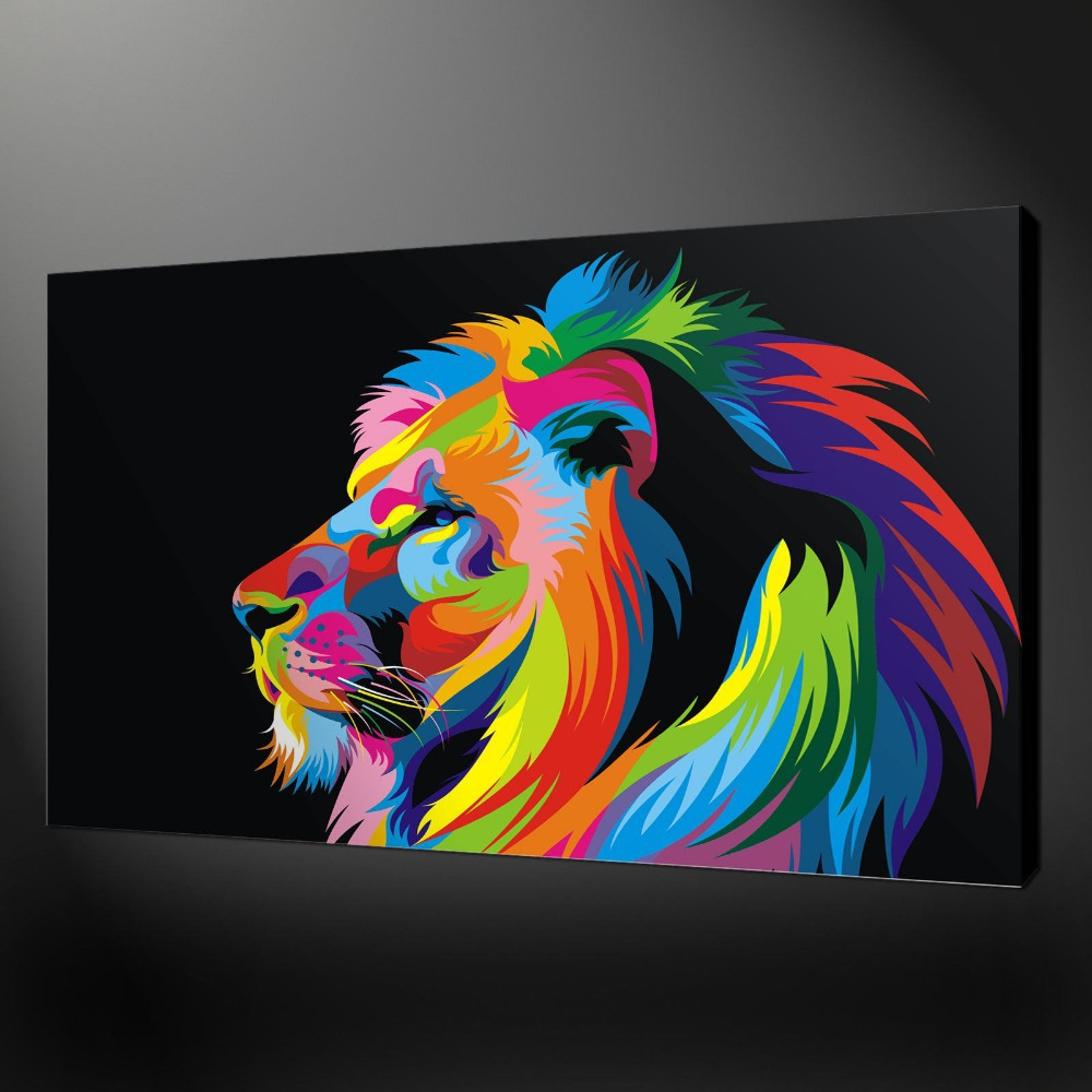 Préférence WOW TOP pop art oil painting lion art painting # TOP animal Decor  TR14