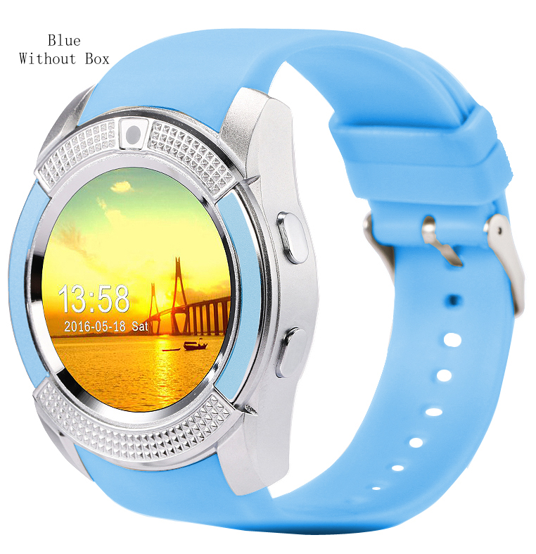 Full Circle HD V8 Smart Watch Camera SIM Wearable Device For Android Smartphone Support TF Card