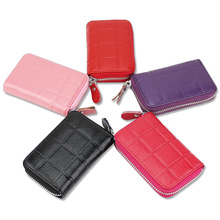 Car Key Wallets Lingge Genuine Leather Key Holder Credit Card Housekeeper Keys Organizer Keychain Case Bag Key Pouch